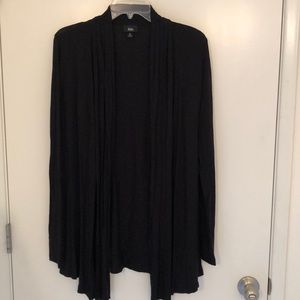 Soft black wrap cardigan / cover up, sz L